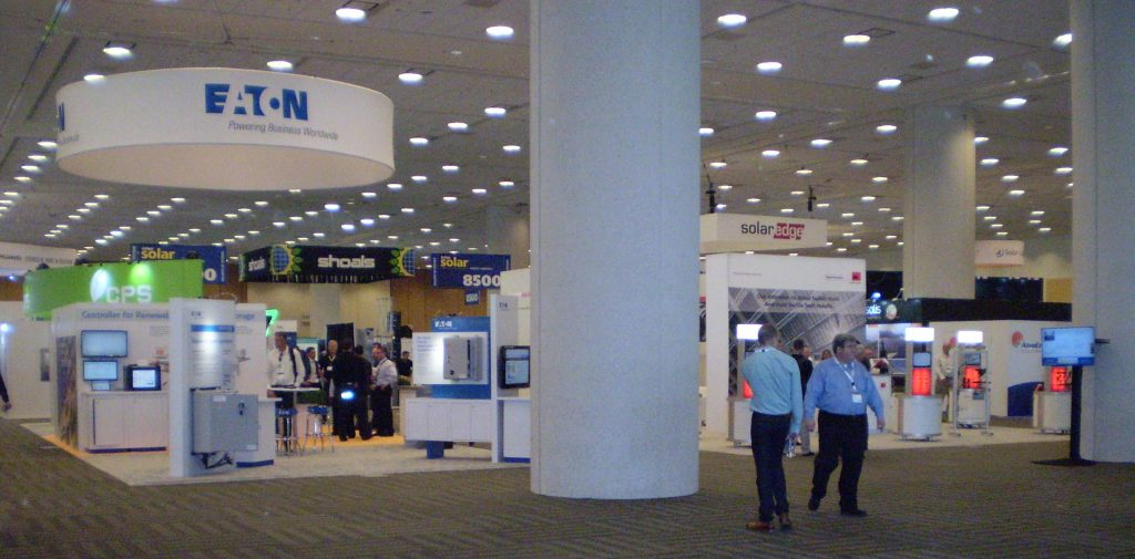 Intesolar-Show Floor -means Healthy Storage and Solar Industry