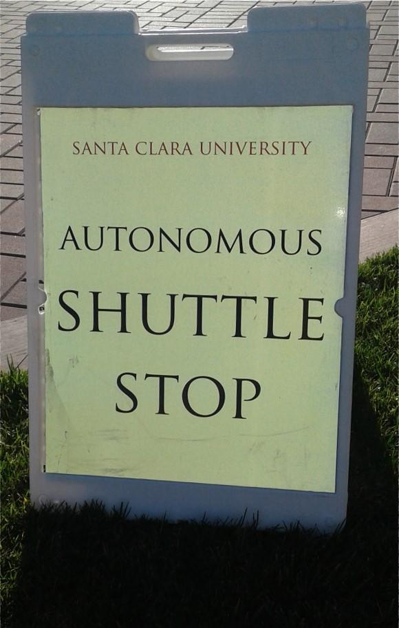 Autonomous Vehicle Stop on SCU Campus