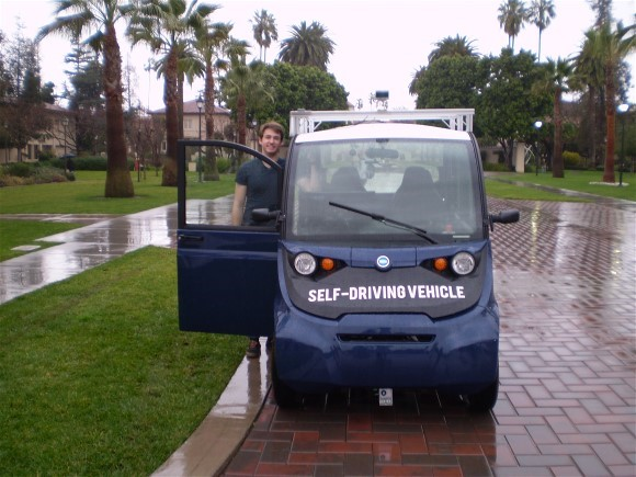 This Is What It's Like to Ride in an Autonomous Vehicle and a First  for Santa Clara University